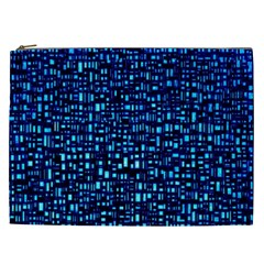 Blue Box Background Pattern Cosmetic Bag (xxl)