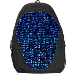 Blue Box Background Pattern Backpack Bag