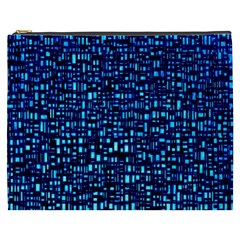 Blue Box Background Pattern Cosmetic Bag (xxxl)