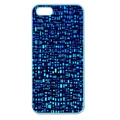 Blue Box Background Pattern Apple Seamless iPhone 5 Case (Color)