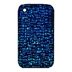 Blue Box Background Pattern iPhone 3S/3GS
