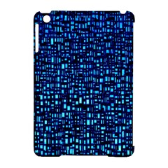Blue Box Background Pattern Apple Ipad Mini Hardshell Case (compatible With Smart Cover)