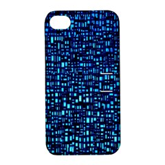 Blue Box Background Pattern Apple Iphone 4/4s Hardshell Case With Stand