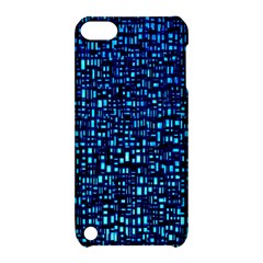 Blue Box Background Pattern Apple iPod Touch 5 Hardshell Case with Stand