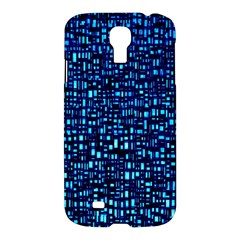 Blue Box Background Pattern Samsung Galaxy S4 I9500/I9505 Hardshell Case
