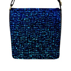 Blue Box Background Pattern Flap Messenger Bag (L)