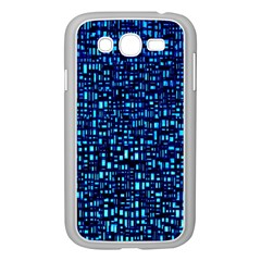 Blue Box Background Pattern Samsung Galaxy Grand Duos I9082 Case (white)