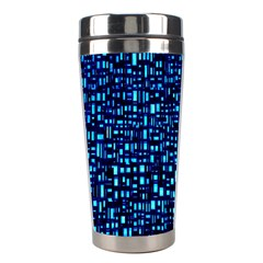 Blue Box Background Pattern Stainless Steel Travel Tumblers