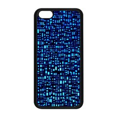Blue Box Background Pattern Apple Iphone 5c Seamless Case (black)
