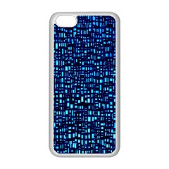 Blue Box Background Pattern Apple iPhone 5C Seamless Case (White)