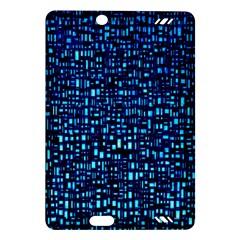 Blue Box Background Pattern Amazon Kindle Fire Hd (2013) Hardshell Case