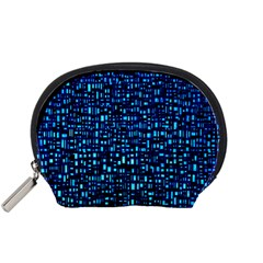 Blue Box Background Pattern Accessory Pouches (small)