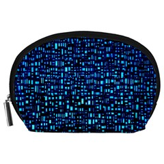 Blue Box Background Pattern Accessory Pouches (large)