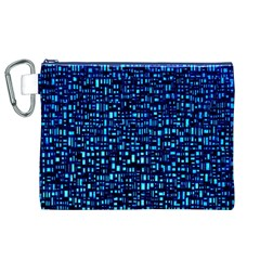 Blue Box Background Pattern Canvas Cosmetic Bag (xl)