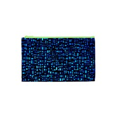 Blue Box Background Pattern Cosmetic Bag (xs)