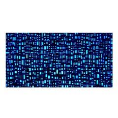 Blue Box Background Pattern Satin Shawl