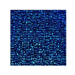 Blue Box Background Pattern Small Satin Scarf (square)