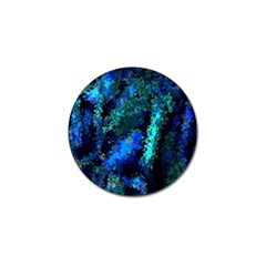Underwater Abstract Seamless Pattern Of Blues And Elongated Shapes Golf Ball Marker (4 Pack)