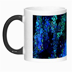 Underwater Abstract Seamless Pattern Of Blues And Elongated Shapes Morph Mugs