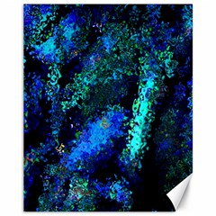 Underwater Abstract Seamless Pattern Of Blues And Elongated Shapes Canvas 11  X 14