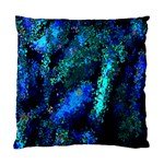 Underwater Abstract Seamless Pattern Of Blues And Elongated Shapes Standard Cushion Case (One Side) Front