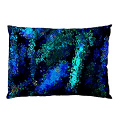 Underwater Abstract Seamless Pattern Of Blues And Elongated Shapes Pillow Case