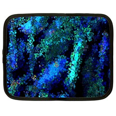 Underwater Abstract Seamless Pattern Of Blues And Elongated Shapes Netbook Case (xl)