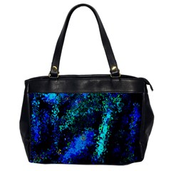 Underwater Abstract Seamless Pattern Of Blues And Elongated Shapes Office Handbags