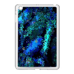 Underwater Abstract Seamless Pattern Of Blues And Elongated Shapes Apple Ipad Mini Case (white)