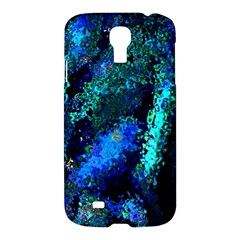 Underwater Abstract Seamless Pattern Of Blues And Elongated Shapes Samsung Galaxy S4 I9500/i9505 Hardshell Case