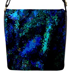Underwater Abstract Seamless Pattern Of Blues And Elongated Shapes Flap Messenger Bag (s)