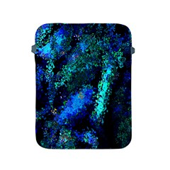 Underwater Abstract Seamless Pattern Of Blues And Elongated Shapes Apple Ipad 2/3/4 Protective Soft Cases
