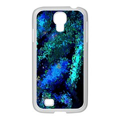 Underwater Abstract Seamless Pattern Of Blues And Elongated Shapes Samsung Galaxy S4 I9500/ I9505 Case (white)
