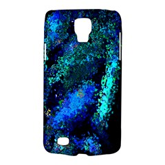 Underwater Abstract Seamless Pattern Of Blues And Elongated Shapes Galaxy S4 Active