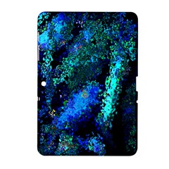 Underwater Abstract Seamless Pattern Of Blues And Elongated Shapes Samsung Galaxy Tab 2 (10 1 ) P5100 Hardshell Case