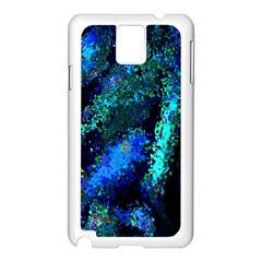 Underwater Abstract Seamless Pattern Of Blues And Elongated Shapes Samsung Galaxy Note 3 N9005 Case (white)