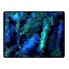 Underwater Abstract Seamless Pattern Of Blues And Elongated Shapes Double Sided Fleece Blanket (small)