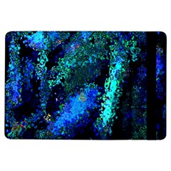 Underwater Abstract Seamless Pattern Of Blues And Elongated Shapes Ipad Air Flip
