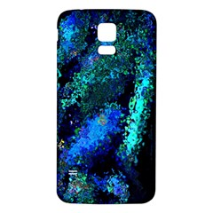 Underwater Abstract Seamless Pattern Of Blues And Elongated Shapes Samsung Galaxy S5 Back Case (white)