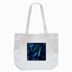 Underwater Abstract Seamless Pattern Of Blues And Elongated Shapes Tote Bag (White)