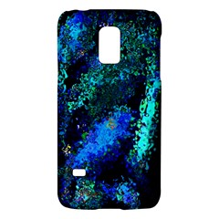 Underwater Abstract Seamless Pattern Of Blues And Elongated Shapes Galaxy S5 Mini