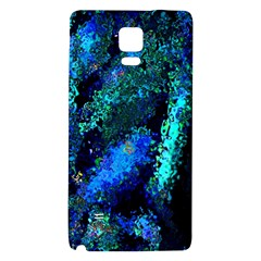 Underwater Abstract Seamless Pattern Of Blues And Elongated Shapes Galaxy Note 4 Back Case