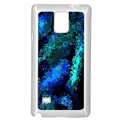 Underwater Abstract Seamless Pattern Of Blues And Elongated Shapes Samsung Galaxy Note 4 Case (White)