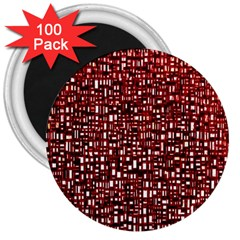 Red Box Background Pattern 3  Magnets (100 Pack)