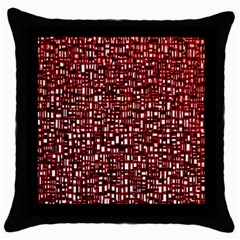 Red Box Background Pattern Throw Pillow Case (black)