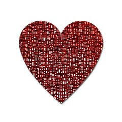 Red Box Background Pattern Heart Magnet