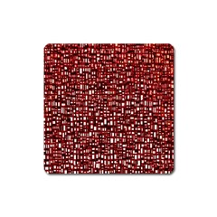 Red Box Background Pattern Square Magnet