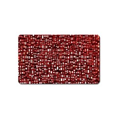 Red Box Background Pattern Magnet (Name Card)