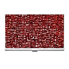 Red Box Background Pattern Business Card Holders