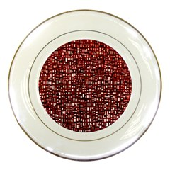 Red Box Background Pattern Porcelain Plates